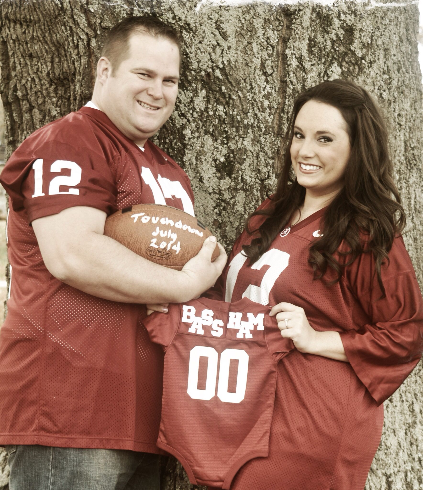 baby announcement alabama roll tide football – Football Birth Announcements