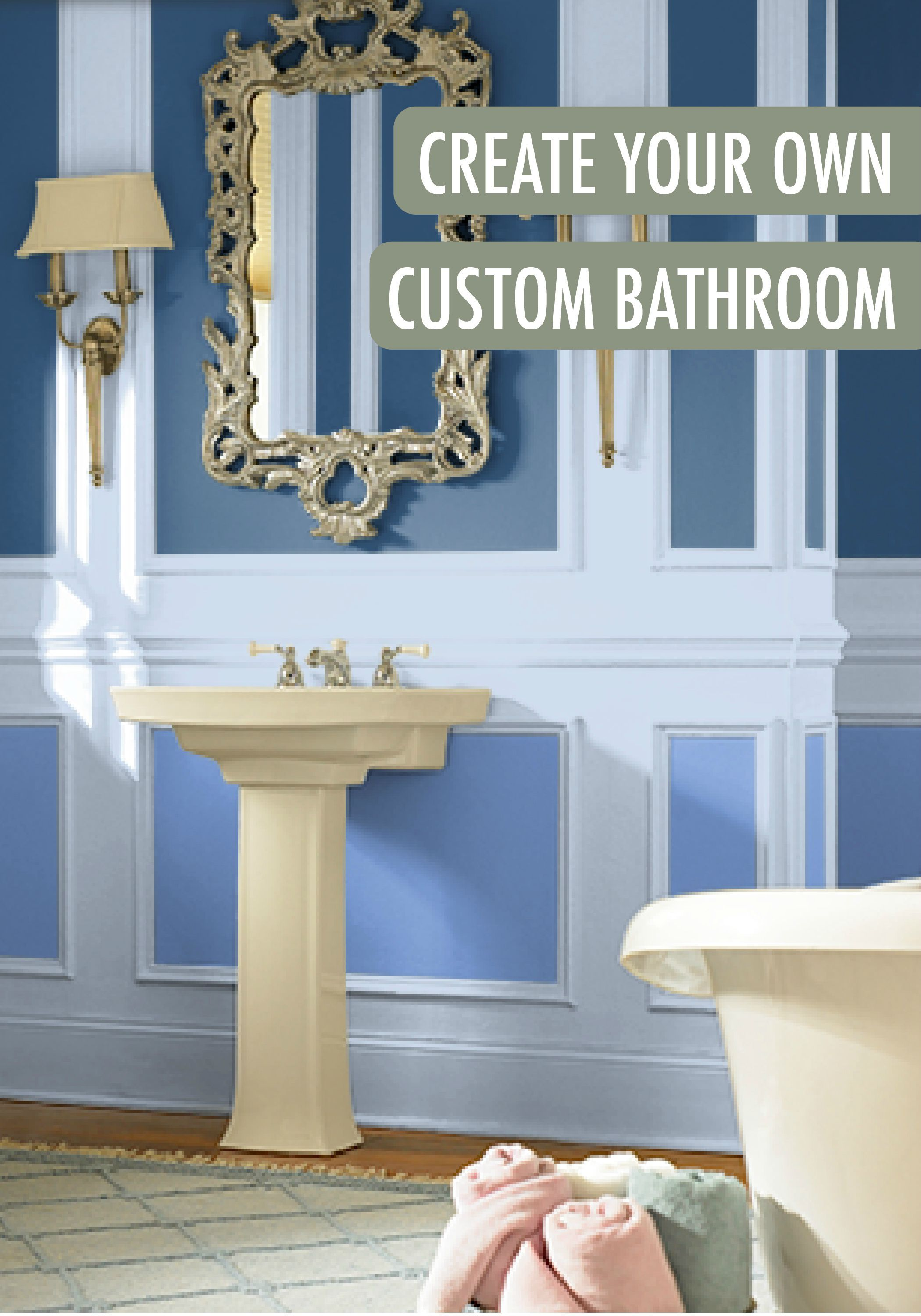 Create your own bathroom finest blizzard cork wall tile for Bathroom design your own