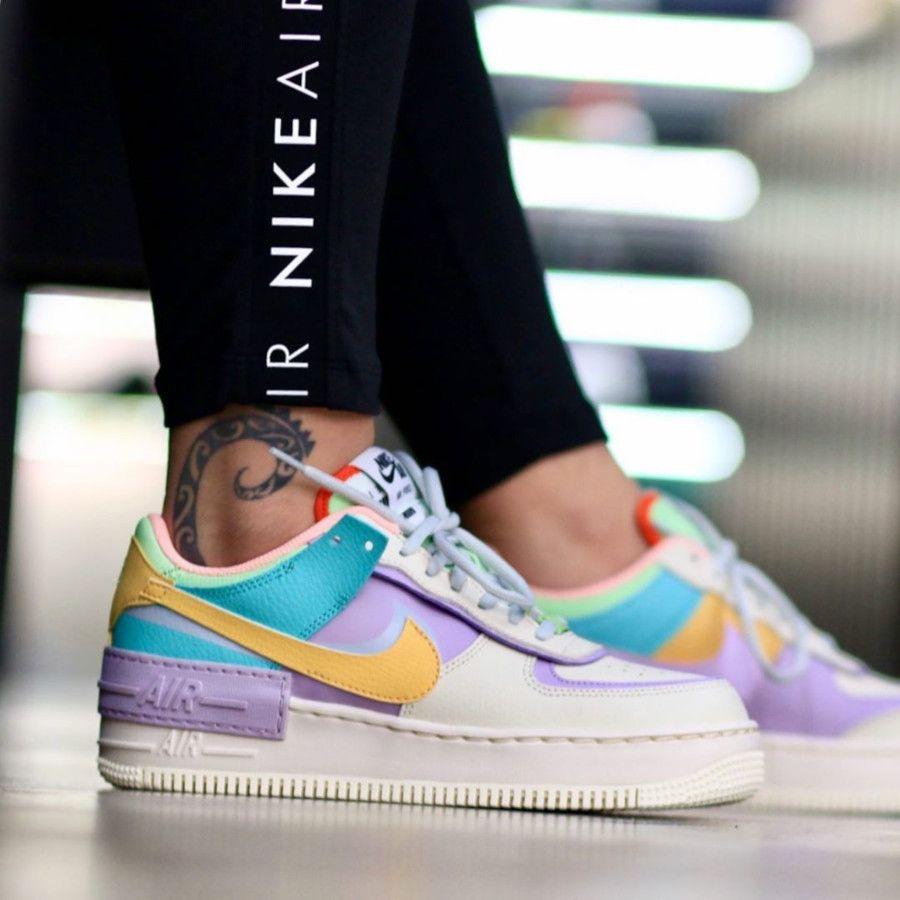 Nike W Air Force 1 AF1 Shadow Easter Pastel (2019) | Nike fashion ...