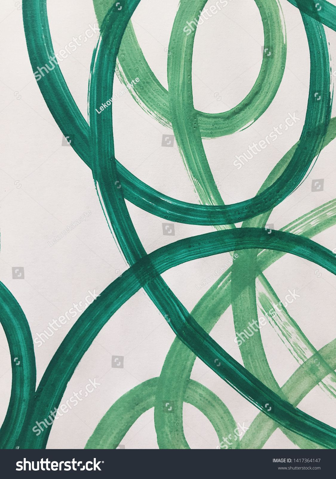 Bright green dynamic abstraction with acrylics. beautiful background. modern Art ,