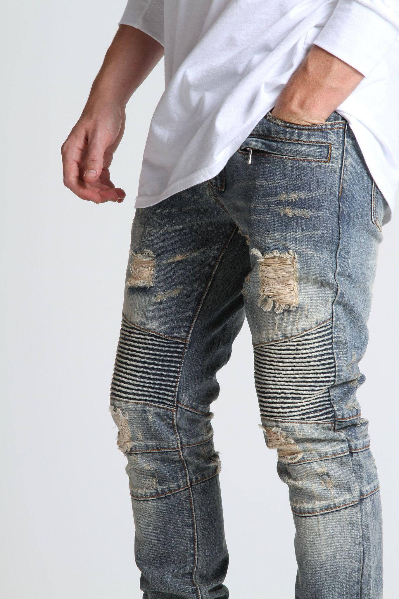 86b1a0b0 Embellish biker jeans dope ! ! $140 … | Fashion | Biker…