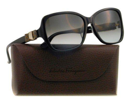 af0d221a1f Amazon.com  SALVATORE FERRAGAMO Sunglasses SF657SL 001 Black 57MM ...