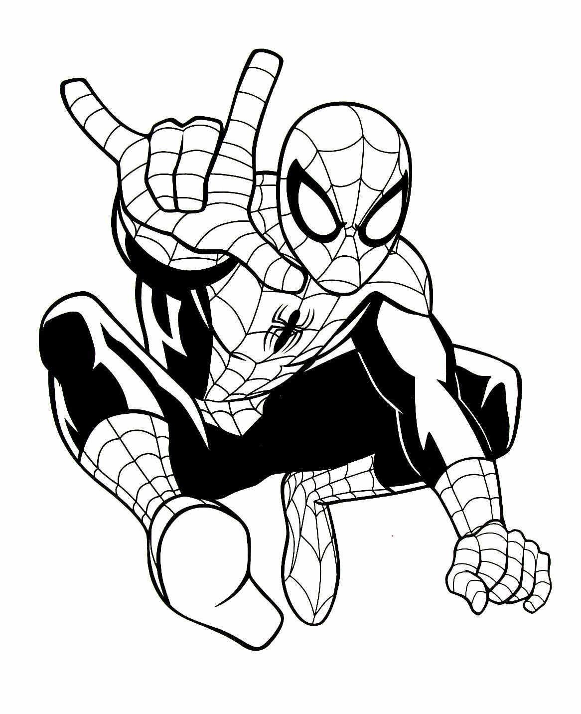 Spiderman Coloring Book Page Spiderman Coloring Superhero Coloring Marvel Coloring