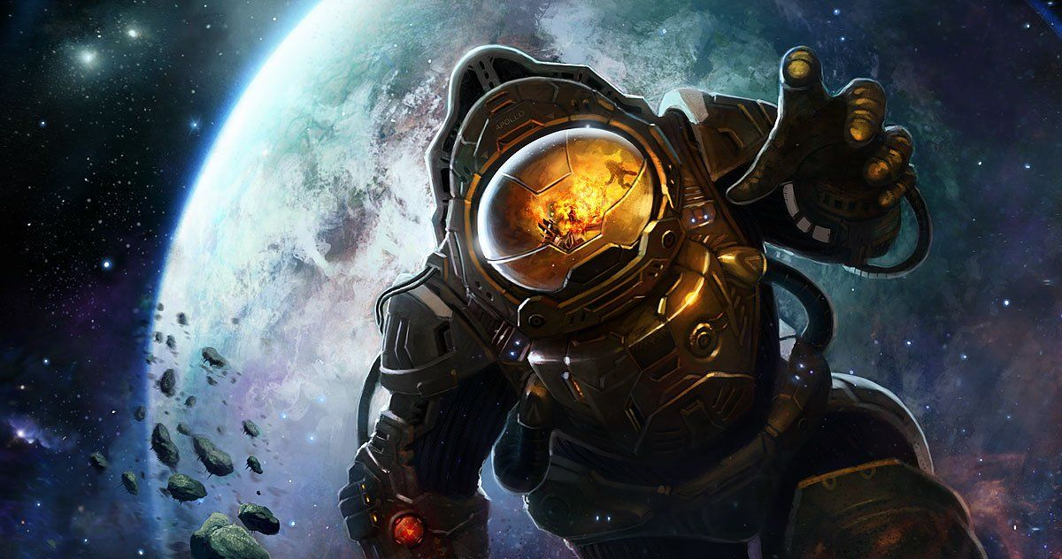 astronaut in space painting - photo #37