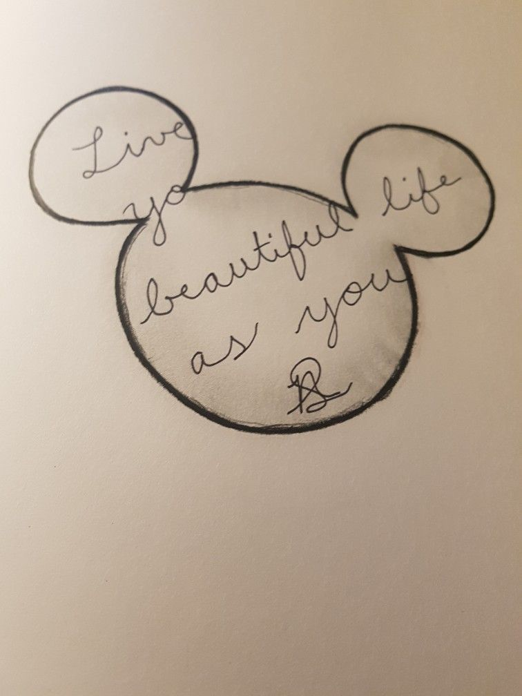 Mickey Mouse Disney Doodle Drawings Pencil Charcoal Marker