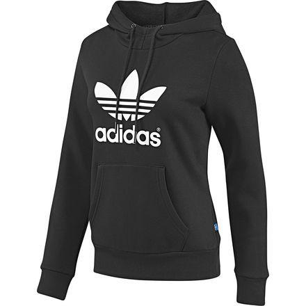 Femmes Sweat-shirt à capuche Trefoil, Black   Running White, zoom ... 1823c5543fae