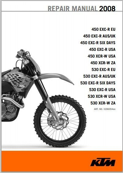 2008 Ktm 450 530 Exc R Xcr W Workshop Service Repair Manual Pdf Downloa Ktm Ktm Exc Ktm 250 Exc