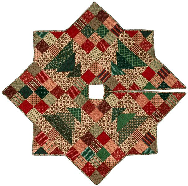 Quilted Christmas Tree Skirt Patterns: Christmas Tree Skirt. Free Quilt Patterns From Victoriana