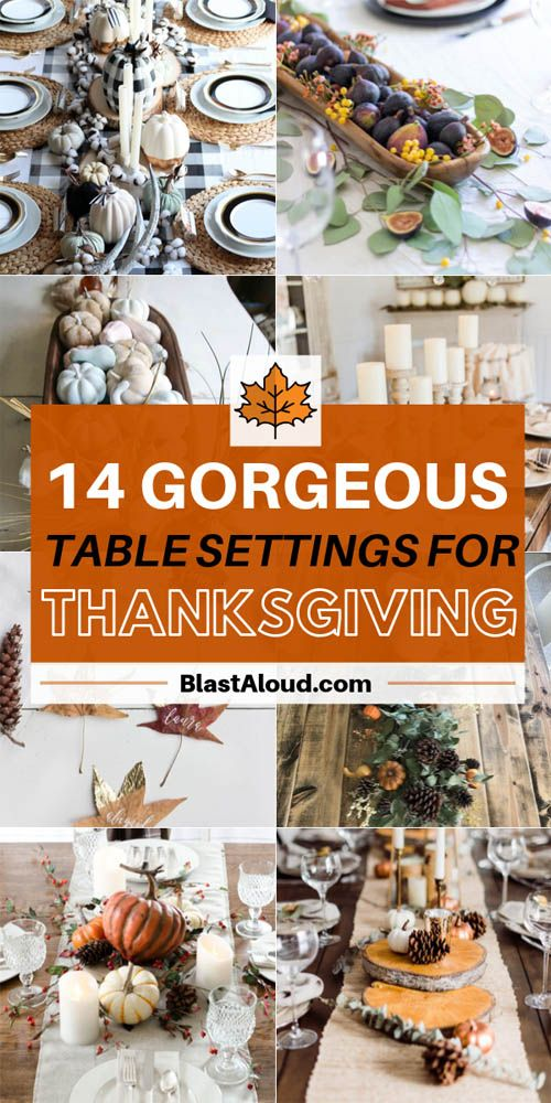 14 Gorgeous DIY Thanksgiving Table Setting Ideas #thanksgivingtablesettings