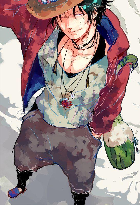 One Piece, Portgas D. Ace | 애니메이션, 그림, 로빈