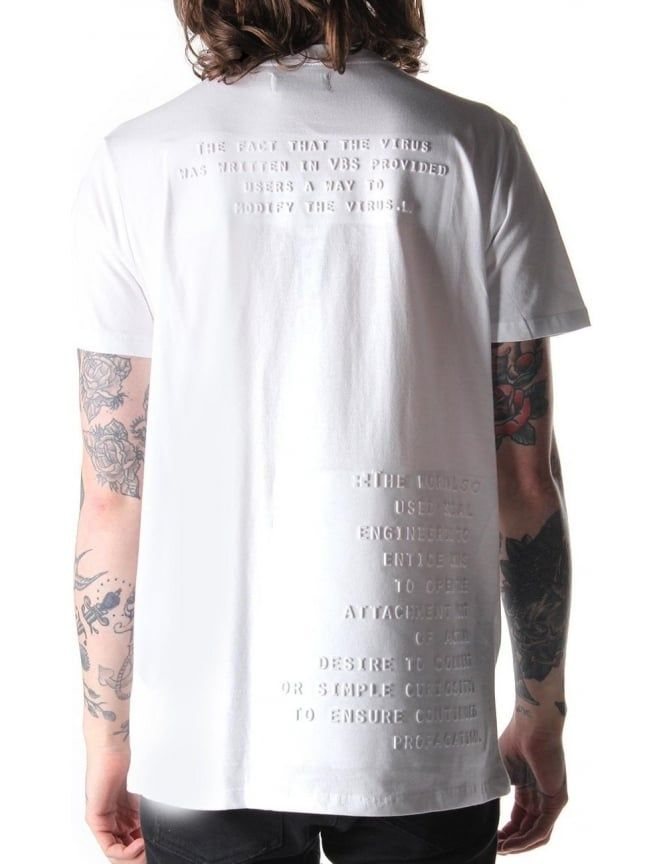6949f4a1 Blood Brother Letter Men's Embossed Print T-Shirt White in 2019 | As My  Style Stays For Now | Shirt print design, Shirt designs, Shirts