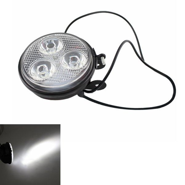 12V 9W Motorcycle Super Bright LED Spotlights Headlight Thick Section Glass Little Sun Lamp