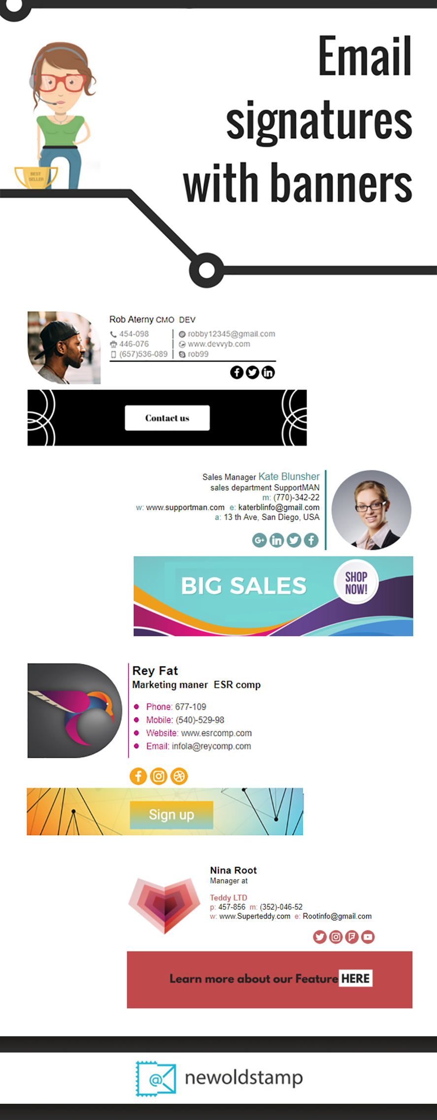 Email signature with banners Email signature design