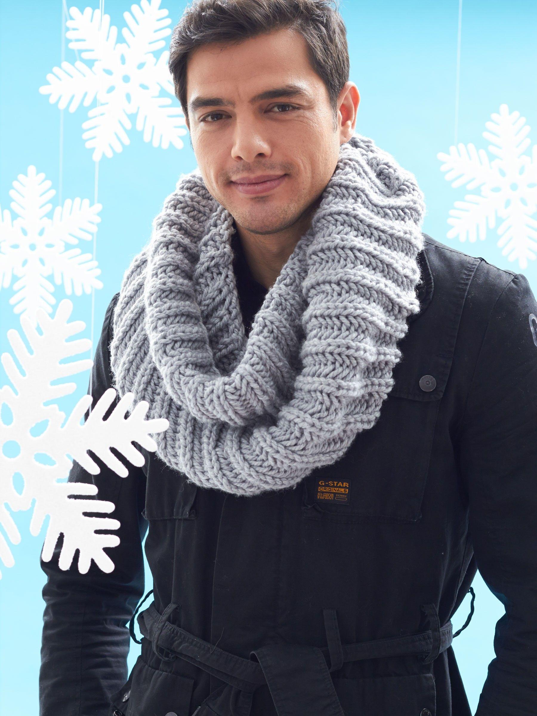 Yarnspirations.com - Bernat Big Rib Cowl - Patterns, free knit xox ...