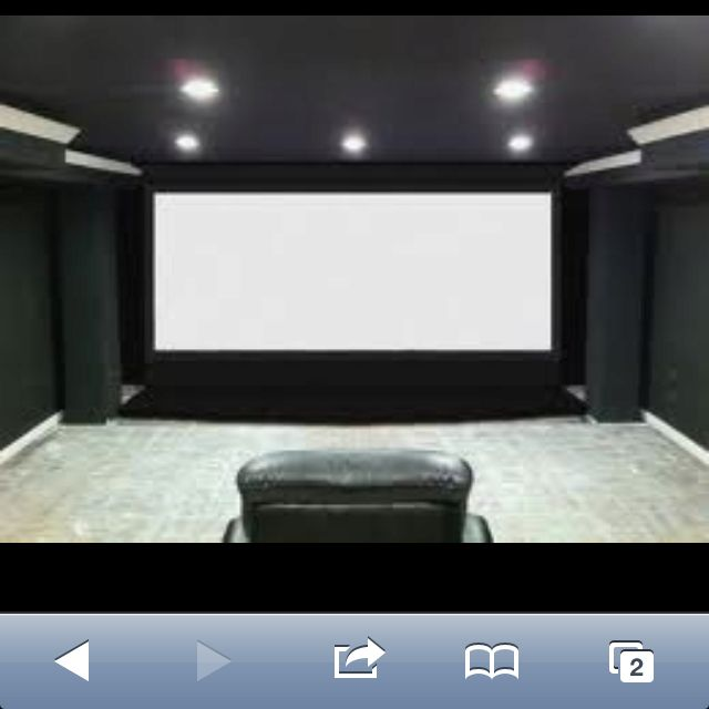 Gray Color Scheme For The Home Theater