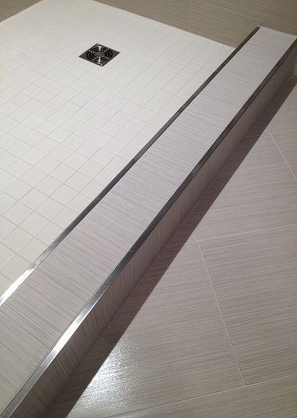 Schluter Brushed Stainless Kerdi Drain Brushed Stainless Schiene Brushed Drain Kerdi Schiene Shower Tile Bathroom Shower Walls Bathroom Shower Design