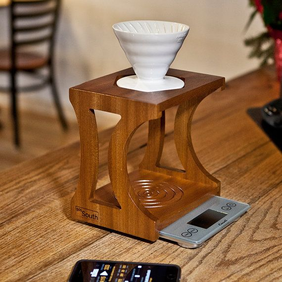 The 501 Pour-Over and Aeropress Coffee Brewing Stand by 501South Etsy Pinterest Aeropress ...