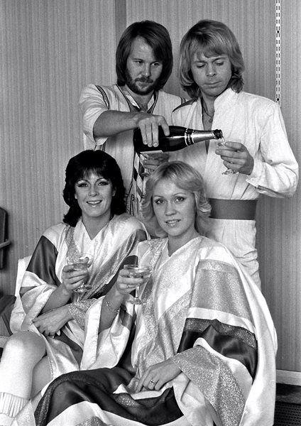 Abba en Wembley, Inglaterra, año 1979.