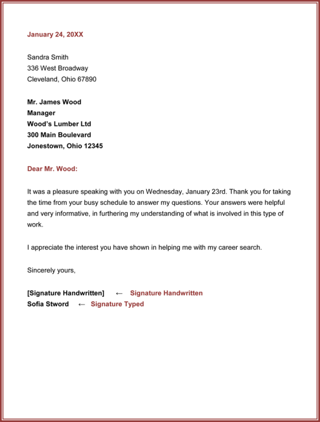 Best Interview Thank You Email Sample Cover Letter Templates