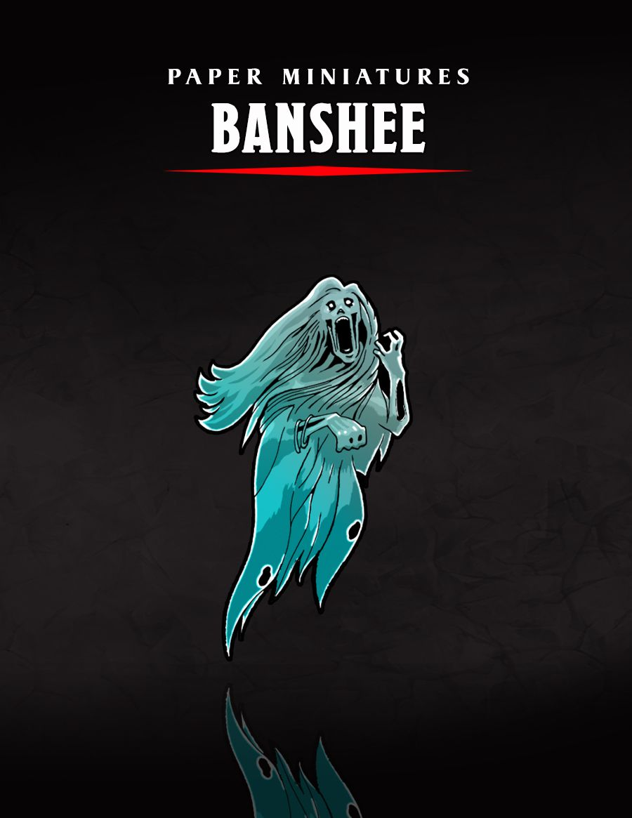 The Banshee Paper Miniature Release | Paper Miniatures in