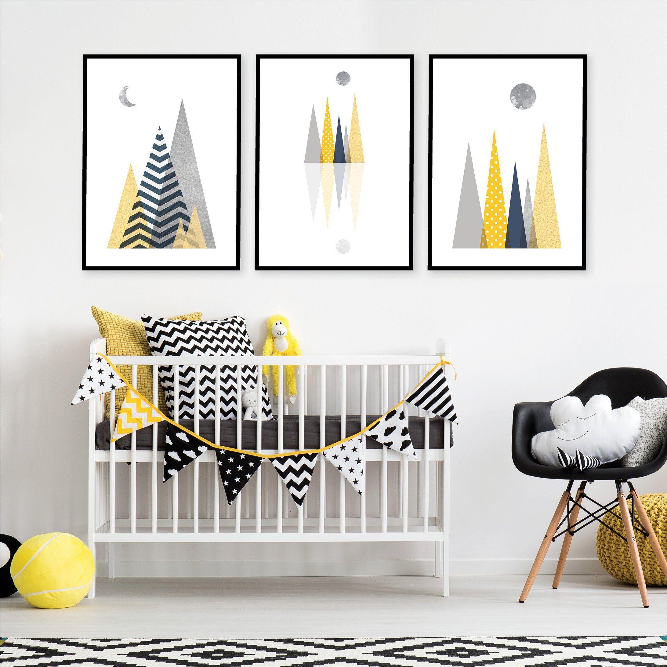 Printable Scandinavian Nursery Art Set Of 3 Instant Download Of