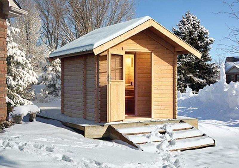 Massivholzsauna Saunahaus 2 mit Vorraum. #sauna #saunahaus #karibu ...