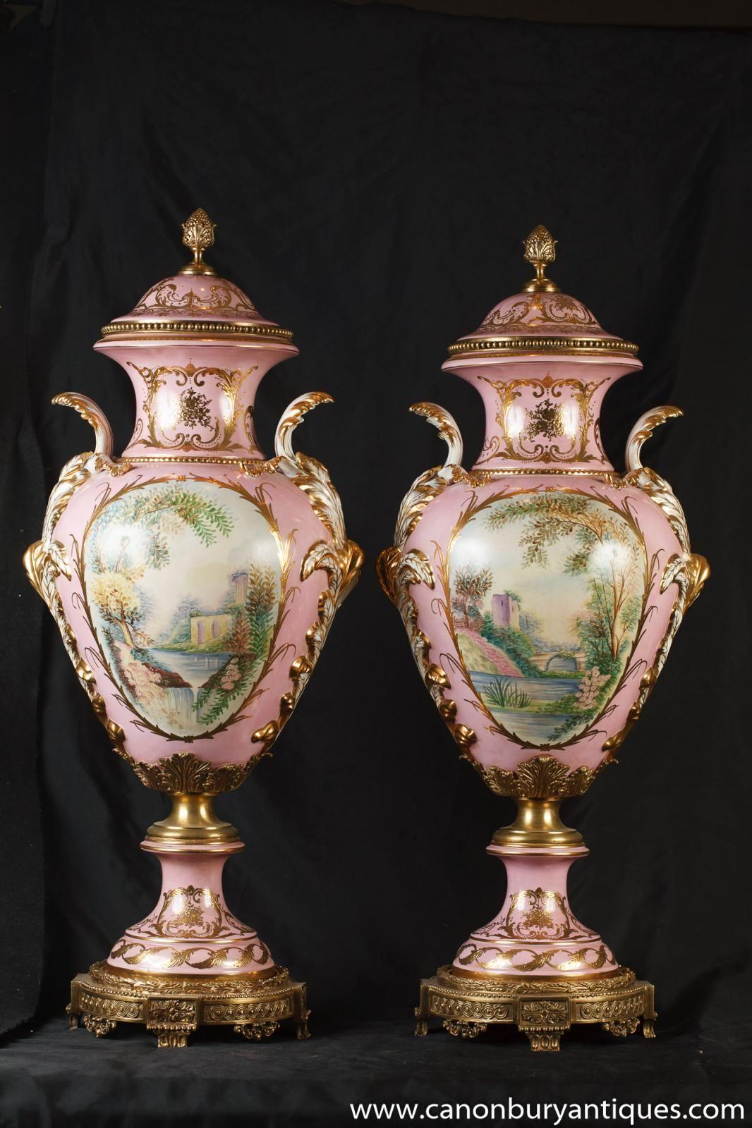 Photo of pair german dresden porcelain pink angel vases urns photo of pair german dresden porcelain pink angel vases urns reviewsmspy