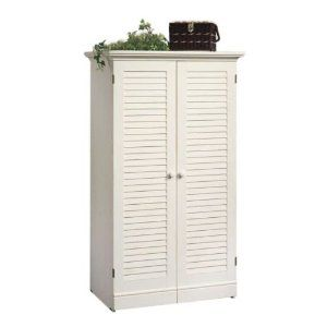 Incroyable Harbor View Craft Armoire In Antique White Finish