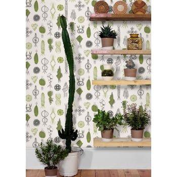 Mini Moderns Asparagus Equinox Wallpaper - eggcup & blanket UK