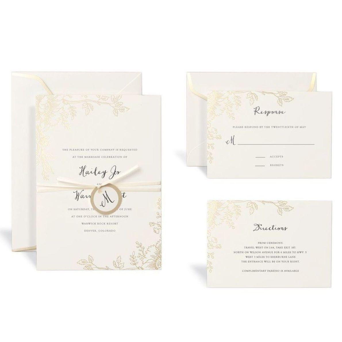 New Michaels Wedding Invites New Design Click Image To View Original Size Do Gold Wedding Invitations Fun Wedding Invitations Wedding Invitation Kits