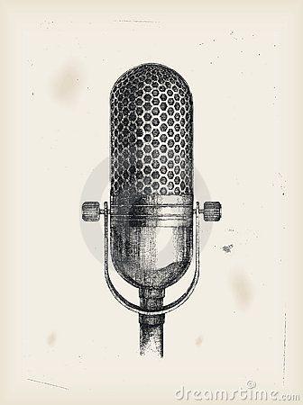 Microphone Drawing Microphone Drawing Microphone Tattoo Old Microphone