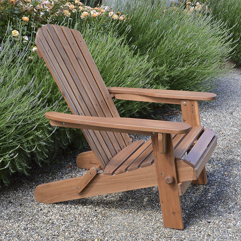 Adirondack fauteuil de jardin pliable en bois de haute qualit jardin mobilier for Fauteuil de jardin en bois