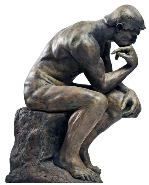 Pondering Money A Place Where We Can Change Our Perspective About Money Rodin Sculpture Thinking Man Statue Art