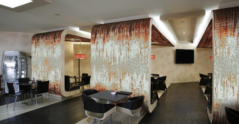 Cafeteria Concept With Splash Mosaics In Breach | Artaic Mosaic Designs