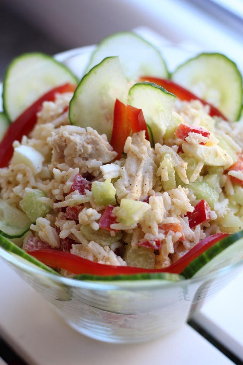 Dietetyczna Sałatka Z Ryżem Salatka Zdrowa Sałatka Ryż