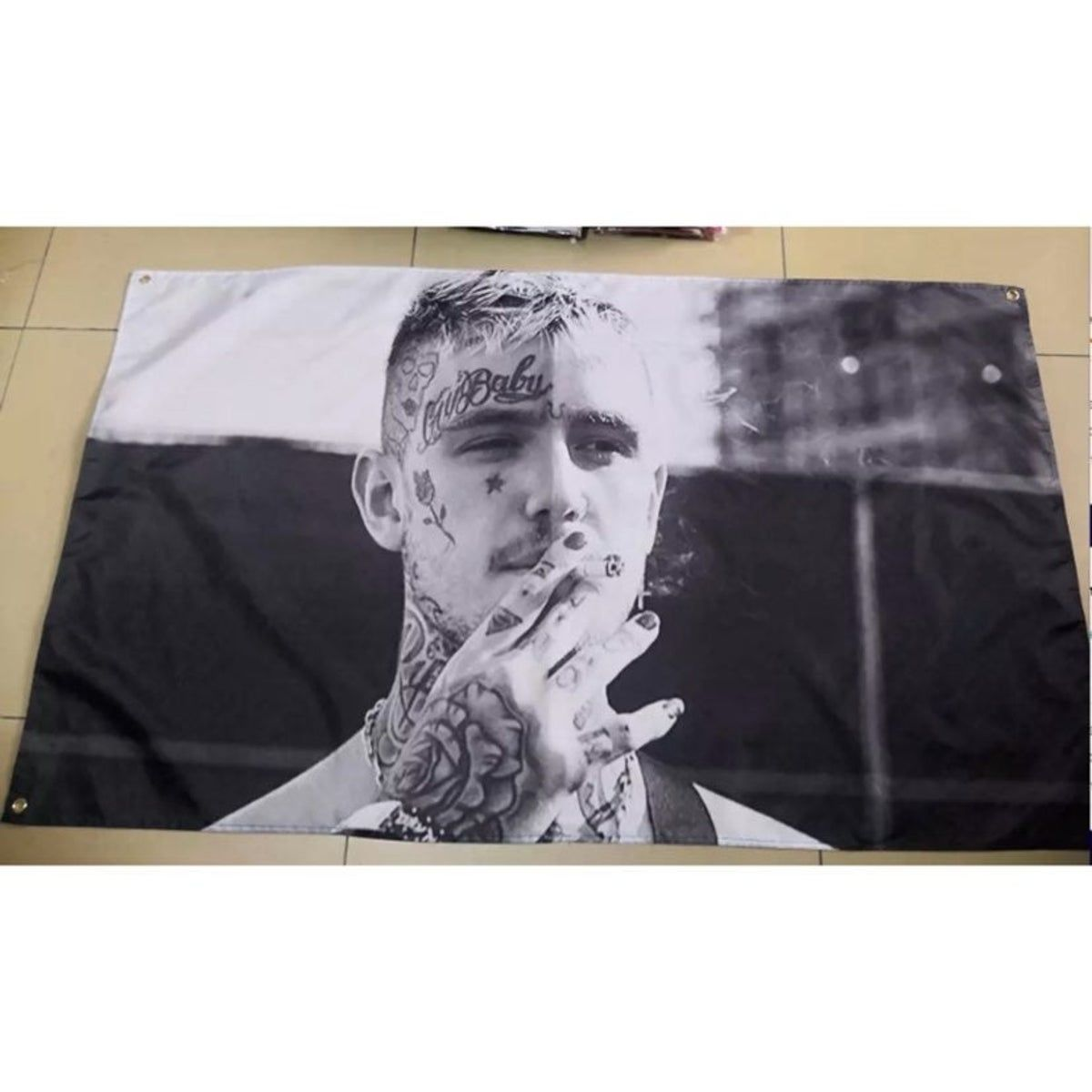Lil Peep Rap Life Is Beautiful Pink Flag Banner Tapestry 3x5 Feet College Dorm