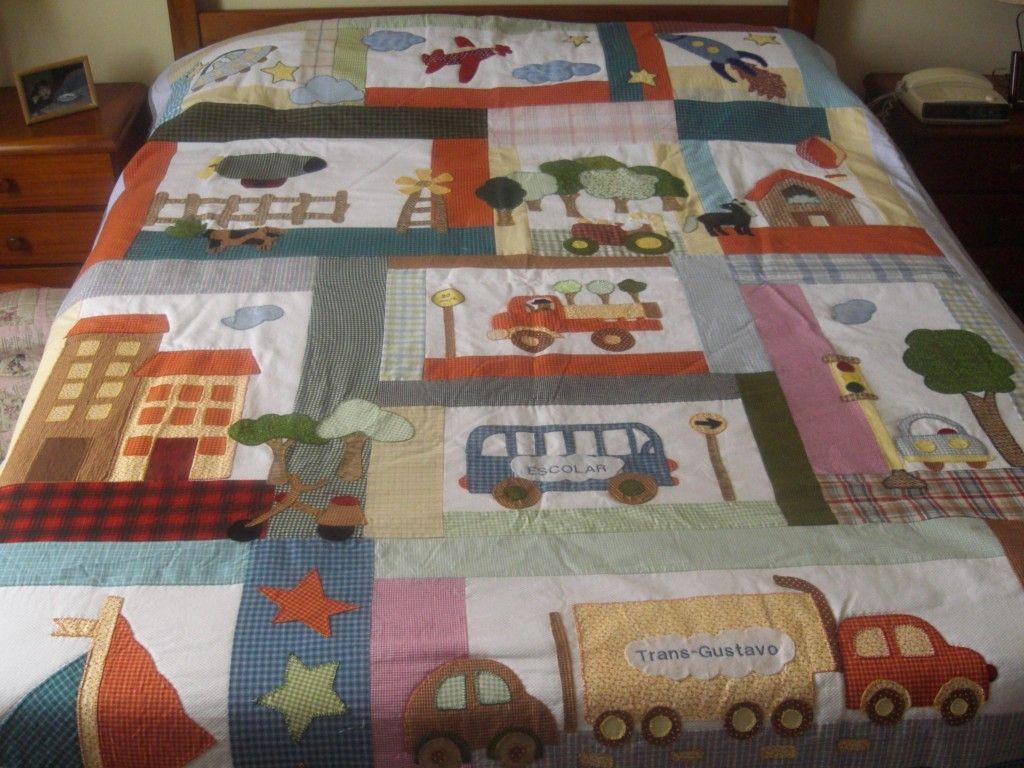 Colcha infantil patchwork pesquisa google quilts - Patrones para colchas de patchwork ...
