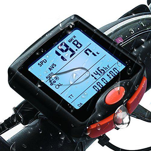 Bike Computer Waterproof Multifunction Cycling Speedometer With