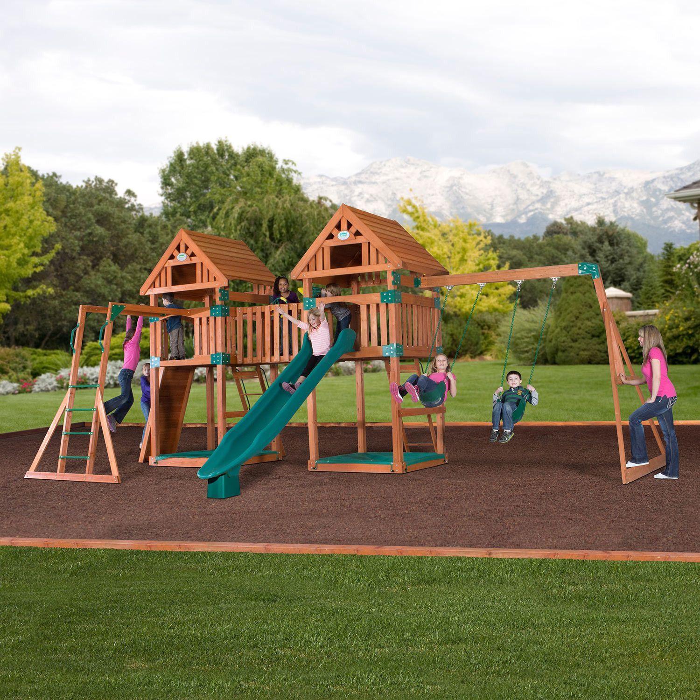 Superbe Kings Peak Wooden Swing Set