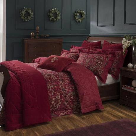 8153b55a56142 Dorma Marianna Red Bed Linen Collection