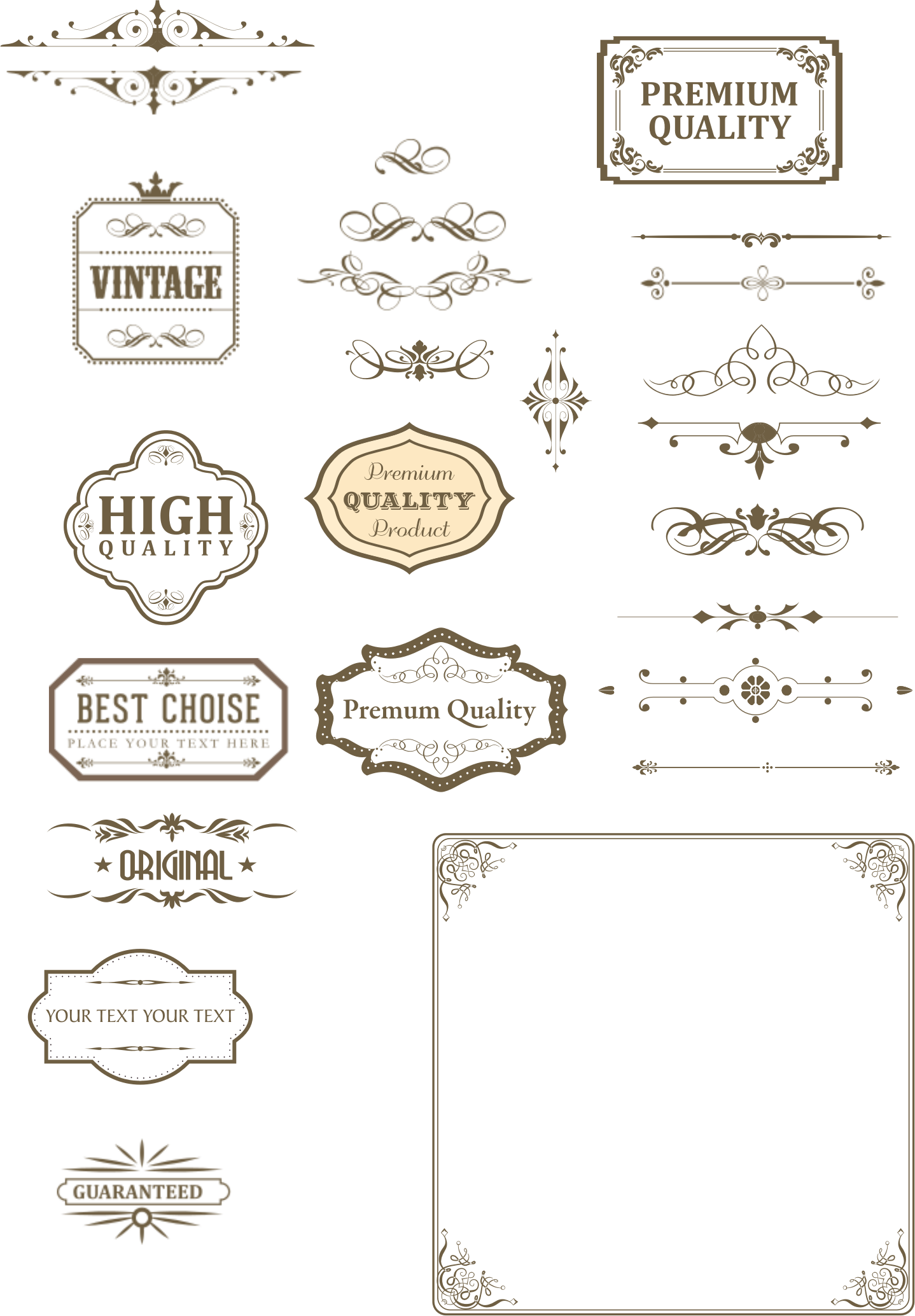 Vintage text box and dividers by sgjoni | Symbols | Frames | Banners ...