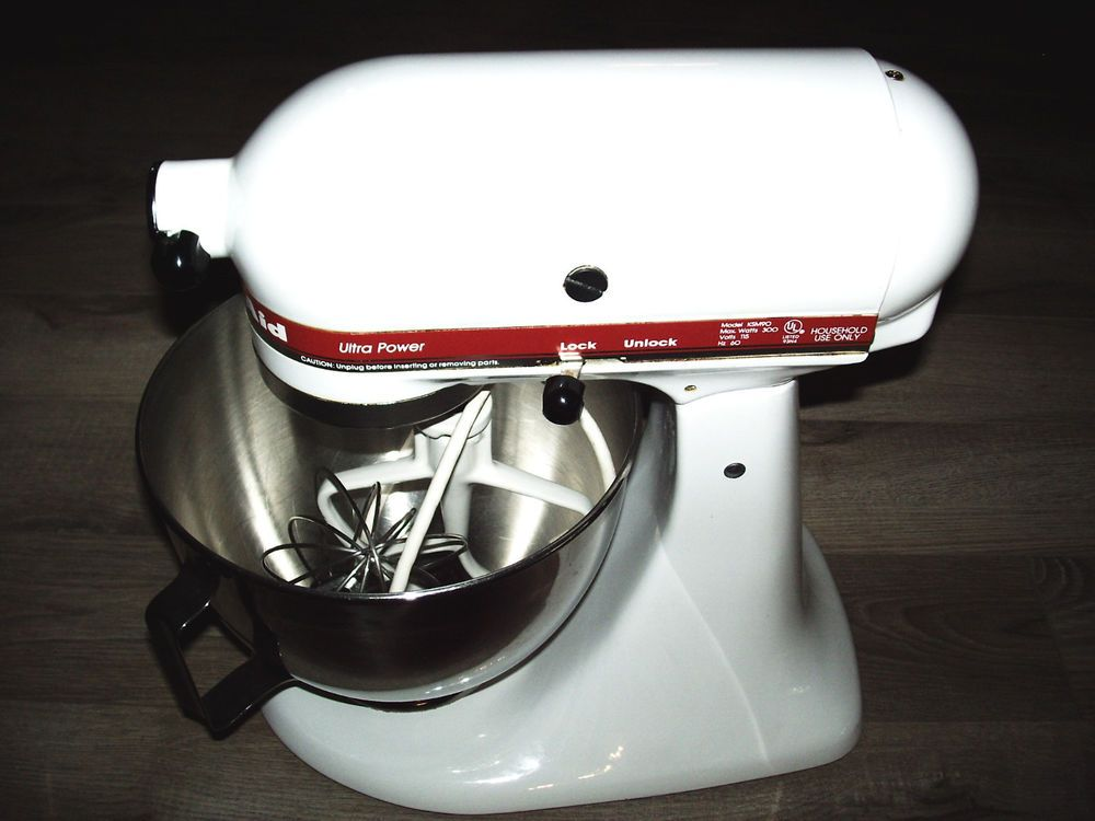 Kitchen Aid White Red Ksm90 Ultra Power Series 300 Watts