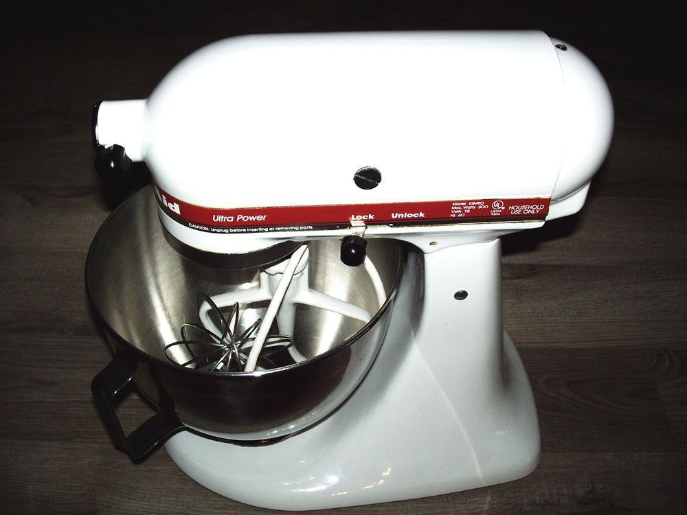Kitchen-aid white/red KSM90 Ultra Power Series 300 Watts Stand Mixer ...