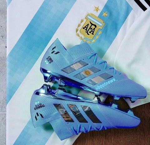 bc99f018a1b Adidas Nemeziz Messi 18+ Argentina custom Best Soccer Shoes