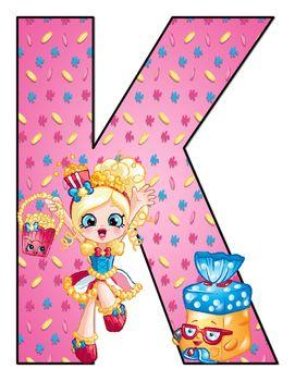 shopkins kindergarten banner 12 letters 8x10 size