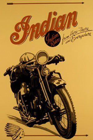 Indian Racing Vintage Indian Motorcycles Vintage Motorcycle Posters Indian Motorcycle