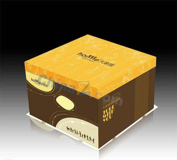 The Cake Box Design Vector Templates Vector Concept Bottles