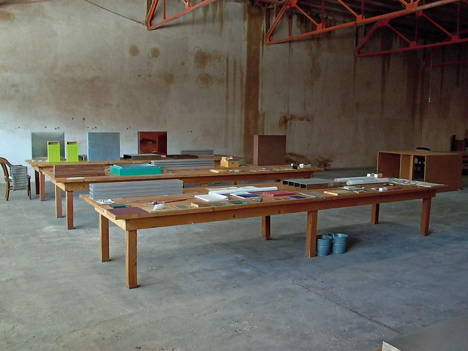 Inside Donald Juddu0026 Art Studio In Marfa, Texas. The Artist Acquired This  Former Grocery Shop In 1990 And Turned It Into A Studio With Long Work  Tables And ...