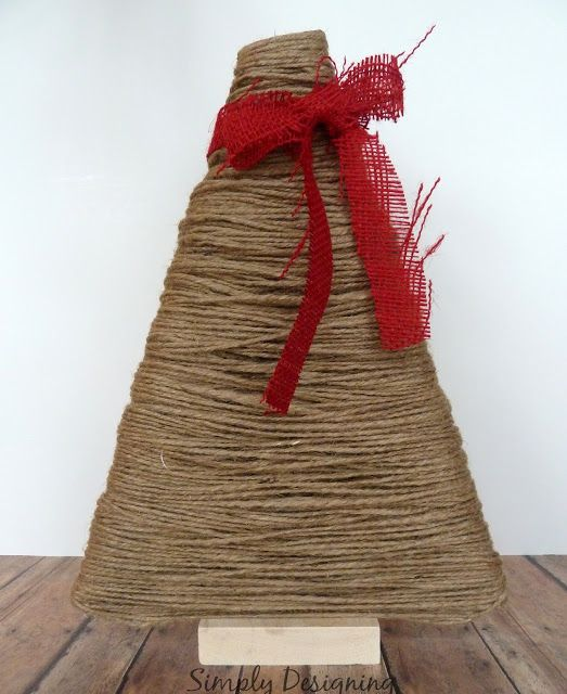 Jute Wrapped TreeToo Cute!!! All About Christmas Pinterest
