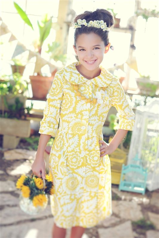 2339fa9b1 Persnickety Clothing - Swiss Dress in Yellow Floral